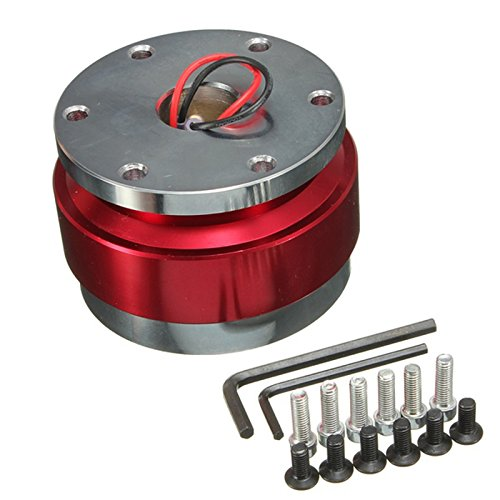 Quick Release Boss - Quick release adapter - SODIAL(R)Universal Car Auto Steering Wheel Quick Release Hub Adapter Snap Off Boss Kit Red
