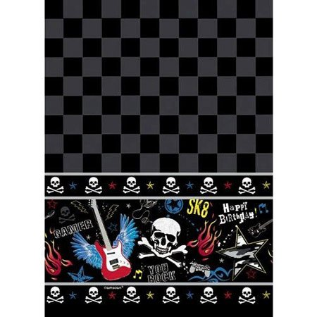 BuyGifts Kids Rock and Roll Music Birthday Party Table Cover]()