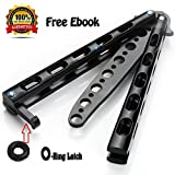 Premium Balisong Butterfly Knife Trainer Practice By Anlado - Enhanced Version - Black