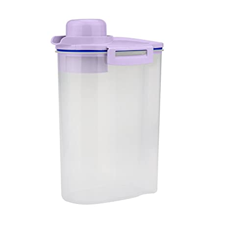 Rice Storage Bin Container With Pour Spout And A Measuring Cup For Grain  Cereal Oatmeal Jar