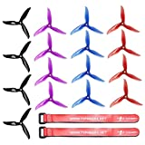 DALPROP T5040C CYCLONE 16PCS Tri-blade Propeller for MINI FPV Racing Multirotor Quadcopter,five inches 8CW 8CCW