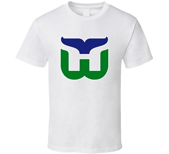Hartford Whalers Retro Hockey Team Logo T Shirt S White ff405c2a4