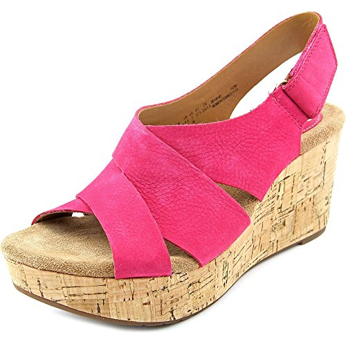 Clarks Caslynn Diem Women US 7 Pink Wedge Sandal 18182