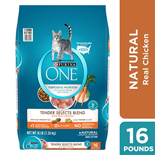 Purina ONE Natural Dry Cat Food; Tender Selects Blend With Real Chicken - 16 lb. Bag ()