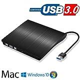 USB 3.0 External CD/DVD Drive for Laptop,DVD/CD ROM Burner,for Laptop Desktop PC Windows Linux Apple Computer MacBook,High Speed Data Transfer (Black)