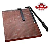 Paper Trimmer, A2-B7 Paper Cutter Guillotine Blade Gridded 18 inch Cut Length Photo Guillotine Craft Machine(A3 Red)