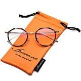 Amomoma Vintage Optical Eyewear Non-prescription Eyeglasses Frame with Clear Lenses AM5016
