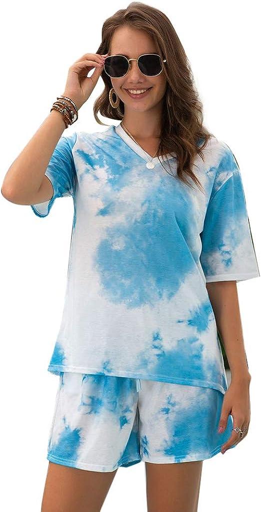 Leepesx Conjunto de Pijama con Cuello en V y Estampado de ...