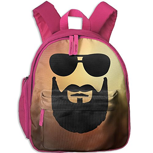 Small School Daypack Original With Cool Beard Sunglasses For Kindergarten Unisex Kids - Sunglasses No Custom Minimum