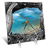 3dRose Elysium Photography - Landscape - Virgin river frame, Zion National Park, Utah - 6x6 Desk Clock (dc_289607_1)