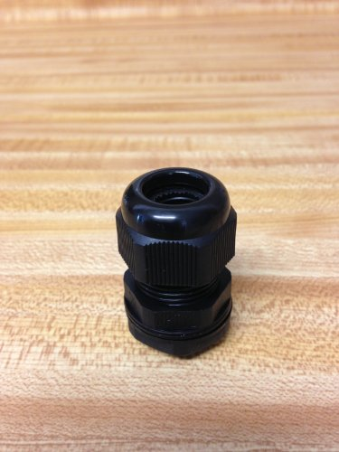 "1/2 Inch 1/2"" 0.5 NPT Black Nylon Cable Gland Strain Relief with Gasket and Locknut"