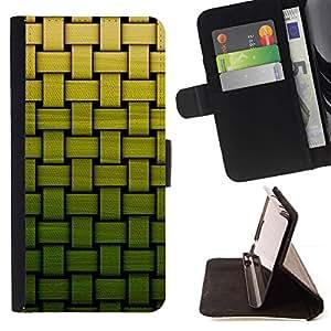 For Samsung Galaxy Core Prime / SM-G360 Case , Cesta Modelo verde de bambú- la tarjeta de Crédito Slots PU Funda de cuero Monedero caso cubierta de piel