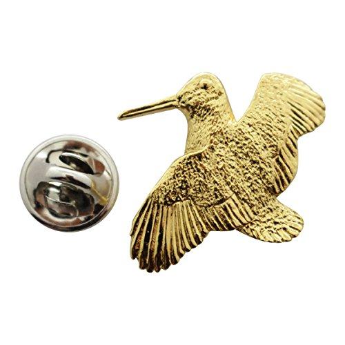 Sarah's Treats Treasures Woodcock Pin ~ 24K Gold ~ Lapel Pin