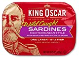 #7: King Oscar Sardines, Mediterranean Style, One Layer, 3.75-Ounce Cans (Pack of 12)