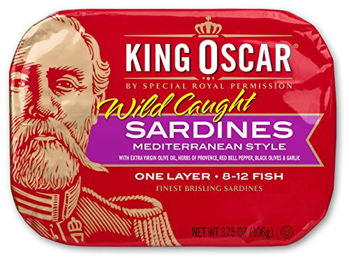 King Oscar Sardines in Extra Virgin Olive Oil Mediterranean Sardines, 3.75 Ounce (Pack of 12)