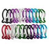GOGO 24 PCS Aluminum Fish Shape Carabiners in Assorted Colors, Church Gift