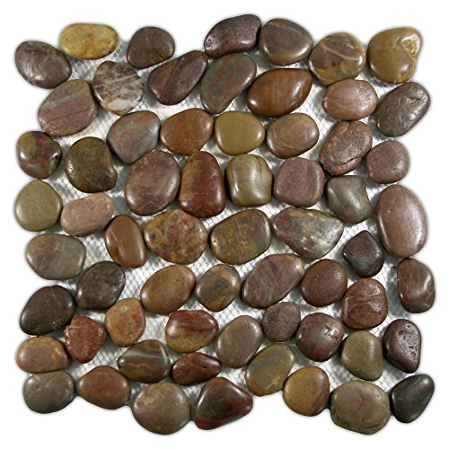 CNK Tile Polished Red Pebble Tile 1 sq.ft by CNK Tile