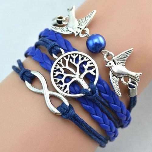 Leder Armband Wickelarmband Vintage Freundschaft Lederarmband Infinity Love NEU (Modell 27)
