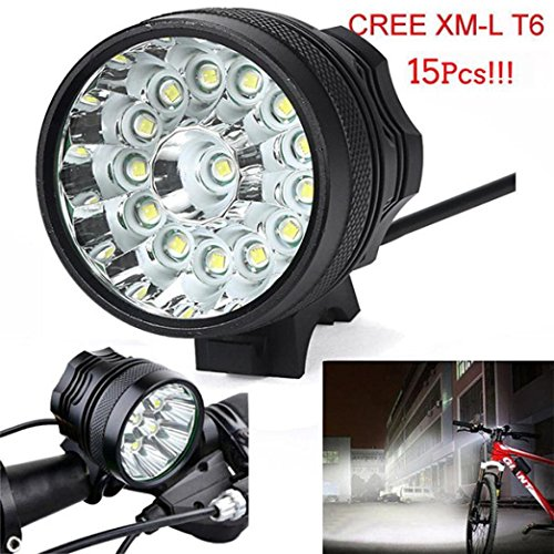 Chartsea 34000 Lm 15x CREE T6 LED 3 Modes Bicycle Lamp Bike Light Headlight Cycling Torch (A)