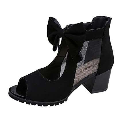 5ffca60d7080f Amazon.com : YJYdadaS Slippers, Women's Ladies Flock Bowknot Tulle ...