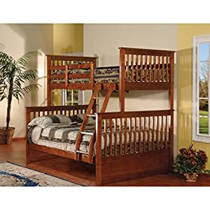 K & B Furniture Twin Over Full Bunk Bed - Esprit Walnut