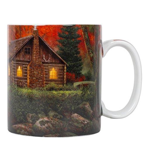 n 16 ounce Porcelain Stoneware Nature Scene Coffee Mug (Scene Porcelain Mug)