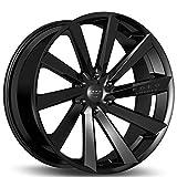 Koko Kuture Kapan - 20 Inch Rims - Set of 4 Gloss Black Wheels - Made for Sports Racing Cars - Fits Challenger, Charger, Mustang, Camaro, Cadillac and More (20x9) - Rines Para Carros - Car Rim Wheel