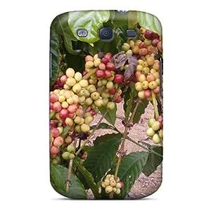 Galaxy S3 Hard Back With Bumper Silicone Gel Tpu Case Cover Cofffe Kawe