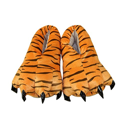 Patte animé Tigre Dessin Griffe CuteOn Peluche Animal Chaussons Cosplay Hiver Costume Unisexe Doux Chaussures HawqWfvT