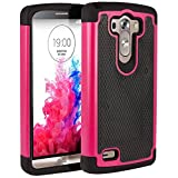 LG G3 D850 Plus Shockproof Rugged Box Case Cover Matte Pink