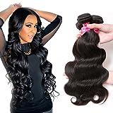 Aphro Hair Brazilian Virgin Hair Bundles Body Wave 3 Bundles 10a Unprocessed Remy Human Hair Extensions Natural Black Color(8 10 12 Inches Natural Color)