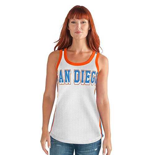 - GIII For Her NBA San Diego Clippers Women's Opening Day Mesh Tank Top, XX-Large, White/Blue