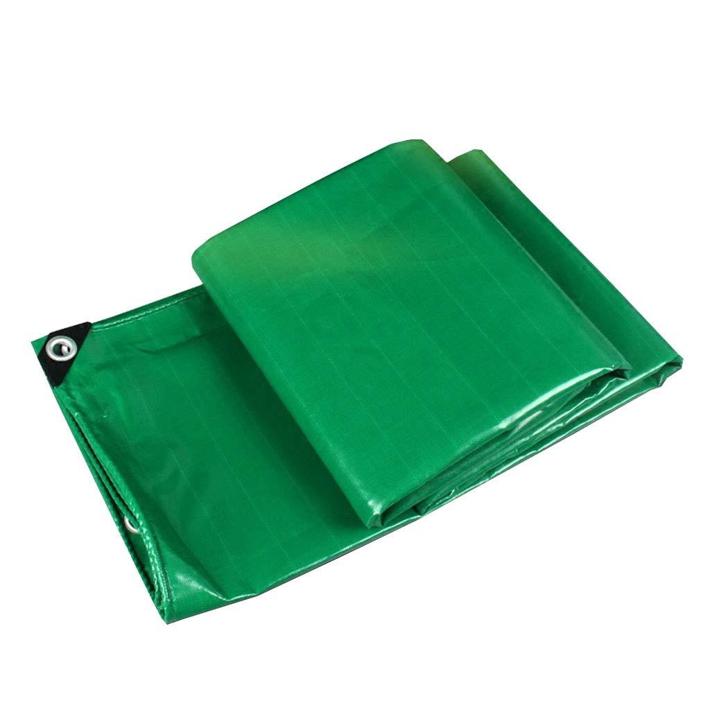 YX-Planen Wasserdichte Plane Robuste Schutzplane für Blaumenbeete Grün - 100% wasserdicht und UV-geschützt - Dicke 0,45 mm, 450 g m²