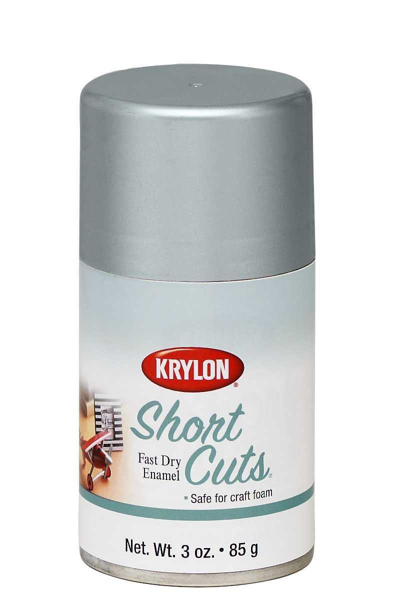 Krylon KSCS032 Short Cuts Aerosol Spray Paint, 3-Ounce, Chrome
