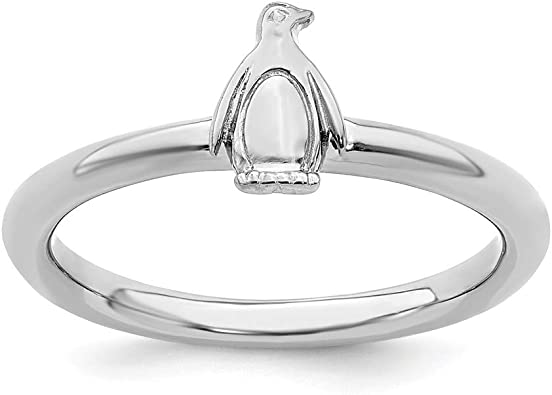 Sterling Silver Eternity Ring Solid Rhodium Stackable Expressions Diamond Ring