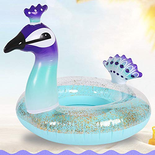 - CFTech Inflatable Pool Floats for Kids/ Adults Peacock Swimming Ring Pool Toy Raft Tube for Beach Pool Party (33 inch-Kids)