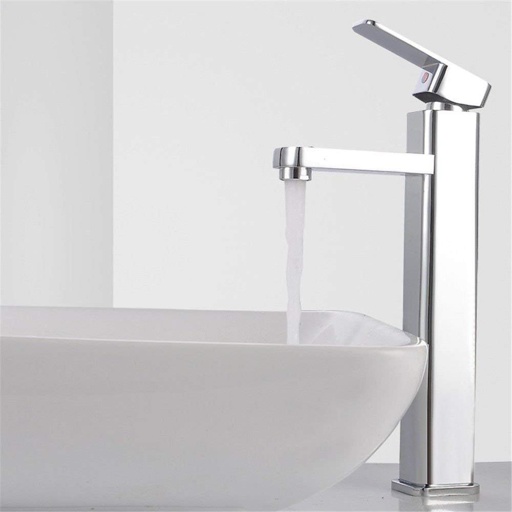 DOJOF Bathroom Sink Faucet Basin Mixer Tap Single Hole Hot and Cold Water Hot and Cold Water Brass Basin Sink Tap Bathroom Bar Faucet