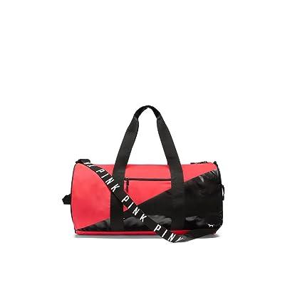Victoria's Secret PINK Weekender Duffle Bag Neon Red / Black