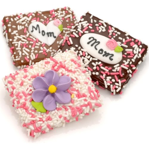 Crackers Dipped Chocolate (Mother's Day Chocolate Dipped Graham Crackers - Set of 12)
