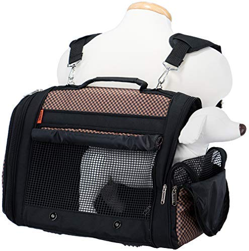 Prefer Pets Travel Gear 358BCK Hideaway Duffle Pet Carrier, Medium, Brown by Prefer Pets Travel Gear