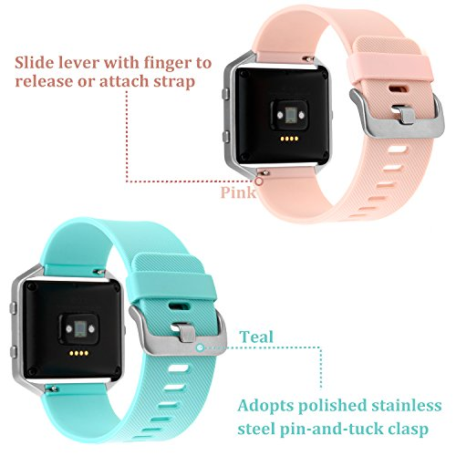 For Fitbit Blaze Bands Small Large, Austrake Classic Replacement Silicone Strap for Fitbit Blaze Watch Accessory for Women Men