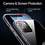 THREEBEES Compatible with iPhone 12 Pro Max Case Clear Slim Fit Thin Soft Cover with Premium Flexible Bumper Designed…