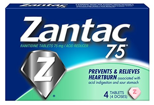 Price comparison product image Zantac 75 Acid Reducer Tablets 4 TB - Buy Packs and SAVE (Pack of 6)