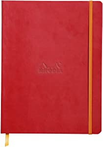 Rhodia Rhodiarama SoftCover Notebook - 80 Lined Sheets - 9 3/4 x 7 1/2 - Poppy Cover