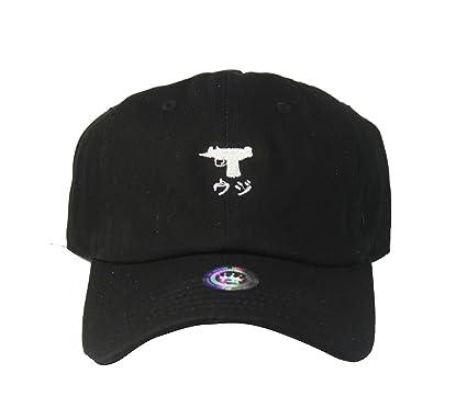 01fd5fb7b Image Unavailable. Image not available for. Color: Custom Japan Uzi Black  Twill Cotton Dad Cap Low Profile Adjustable Tumblr Cap Dad Hat