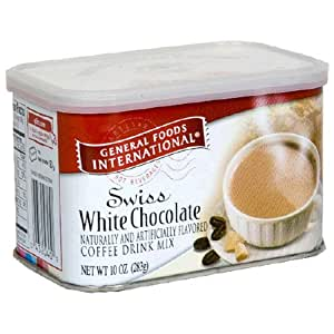 General Foods International Swiss White Chocolate Coffee Drink Mix, 10-Ounce Tins (Pack of 6)