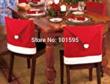 Corcrest(TM)2015 Merry Christmas Suppliers 6pcs/pack Hot Red Soft Cotton Chair Back Covers Christmas Home Restaurants Coffee