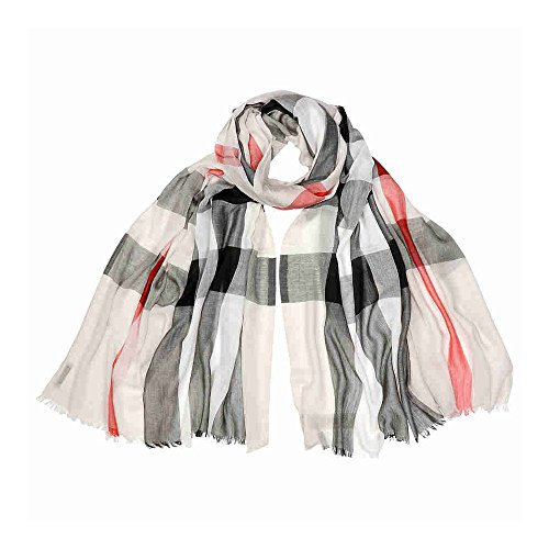 Burberry Unisex Check Modal Cashmere and SIlk Scarf Stone