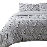 King Size Duvet Covers Bedsure Pintuck Duvet Cover Set King Size Grey Pinch Pleat Duvet Cover Bedding Set 2 Pillow Shams