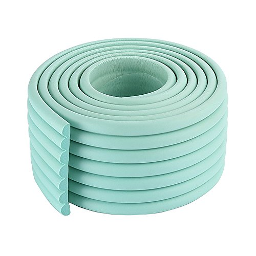 Green 13' Cell - 2x2m/13ft Fresh Mint Soft Rubber Table Bumpers for Babies Kindergarten Window Edge Guard Corner Bumpers